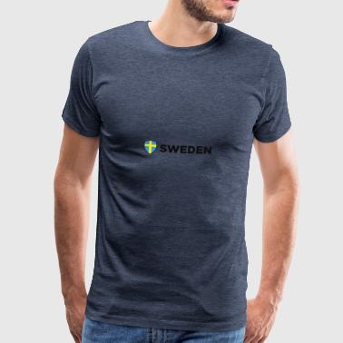 Sveriges nationella flagga - Premium-T-shirt herr