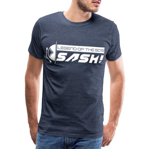 DJ SASH! Turntable Logo - Men's Premium T-Shirt