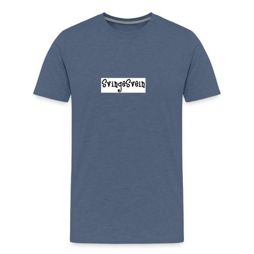 svingesvein tekst - Premium T-skjorte for menn