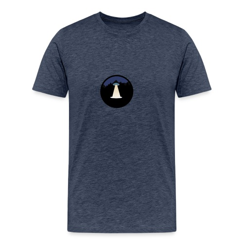 UFO beaming up a deer - Mannen Premium T-shirt