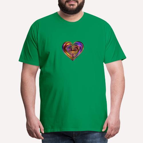 Colorful Love Heart Print T-shirts And Apparel - Men's Premium T-Shirt