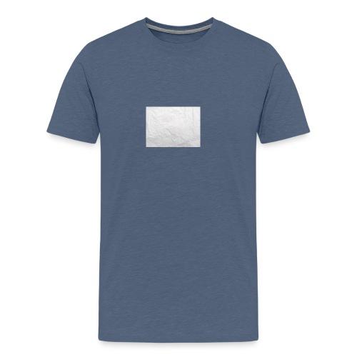 Crumpled White Paper Texture - Men's Premium T-Shirt