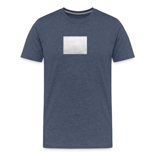 Crumpled White Paper Texture - Men's Premium T-Shirt