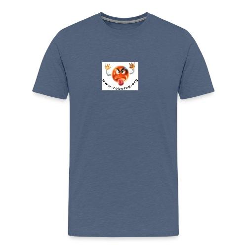 robologbutton - Männer Premium T-Shirt