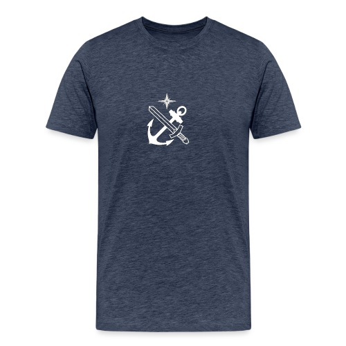 Force Protection, vit med svart ram. - Premium-T-shirt herr