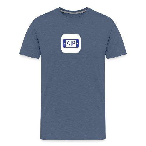 AJP YOUTUBE IPHONE 4 CASE - Men's Premium T-Shirt