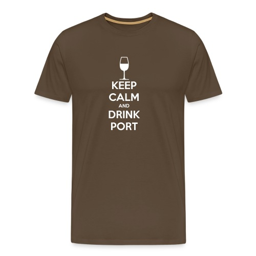 Keep Calm and Drink Port - Men's Premium T-Shirt