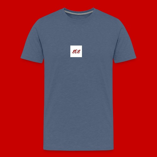 red on white 808 box logo - Men's Premium T-Shirt