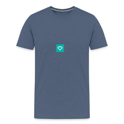 logo social media - Miesten premium t-paita