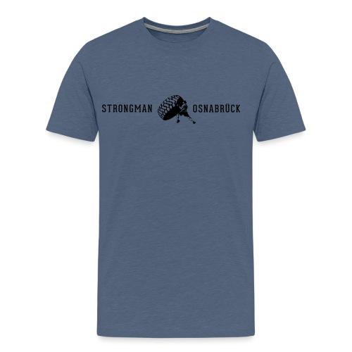Strongman Logo schwarz - Männer Premium T-Shirt