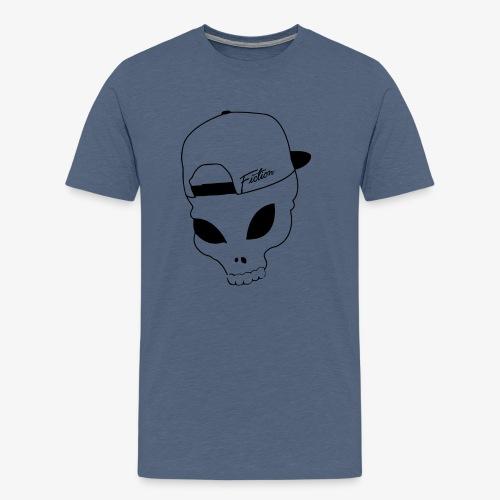 Skull-Alien-Snapback .png T-Shirts - Men's Premium T-Shirt