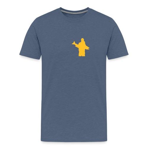 posering med laks - Premium T-skjorte for menn