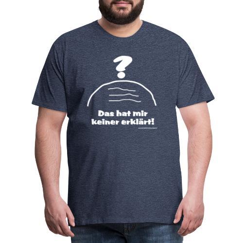 erklaert grafi weiss - Männer Premium T-Shirt