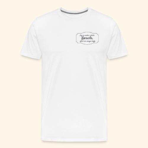 Verdens sødeste kæreste - Herre premium T-shirt
