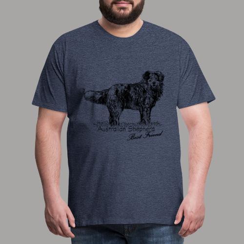 Australian Shepherd - Portrait 2 - Männer Premium T-Shirt