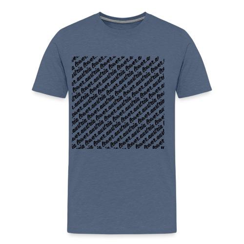 lowA schrift schräg black - Männer Premium T-Shirt