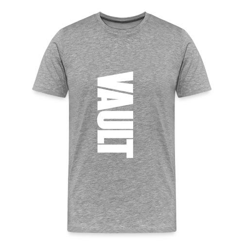 VAULT LONDON white vertic - Men's Premium T-Shirt