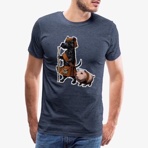 Scottie and Haggis dark t - Men's Premium T-Shirt