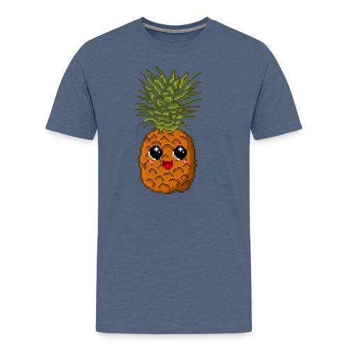 PixelKawaiiPineapple png - Männer Premium T-Shirt