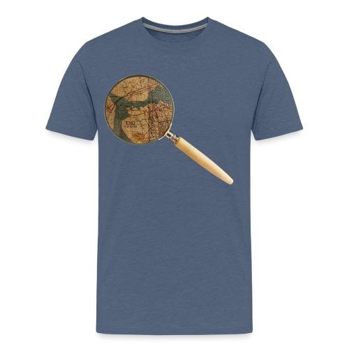Etsivä löytää Enon - Miesten premium t-paita