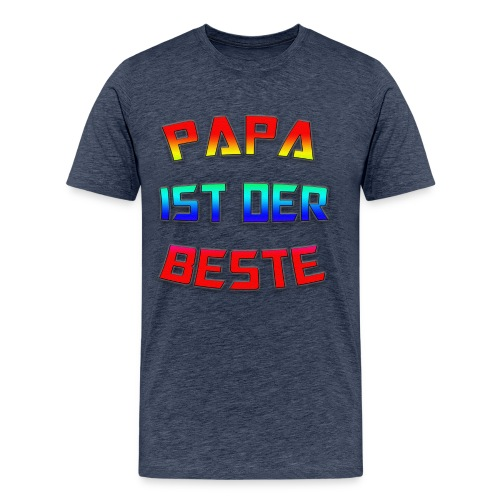 Papa ist der beste png - Männer Premium T-Shirt
