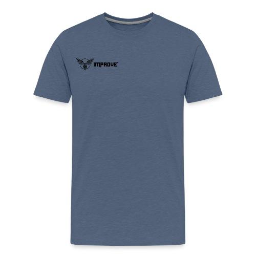 imProve Logo black png - Männer Premium T-Shirt