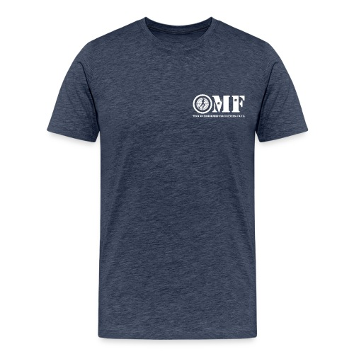 OMF white logo - Men's Premium T-Shirt