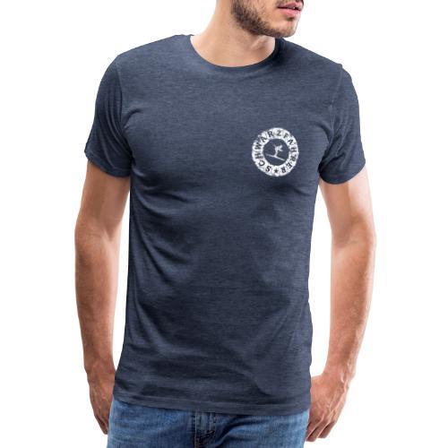Schwarzfahrer Ski Skifahrer - Männer Premium T-Shirt
