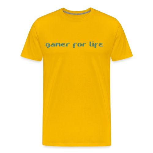 Gamer for life text - Men's Premium T-Shirt