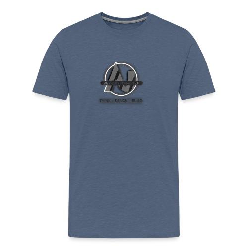 ArchitectJ_Logo_with_Slogan_-transparent_backgroun - Mannen Premium T-shirt
