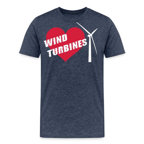 wind turbine grey - Men's Premium T-Shirt