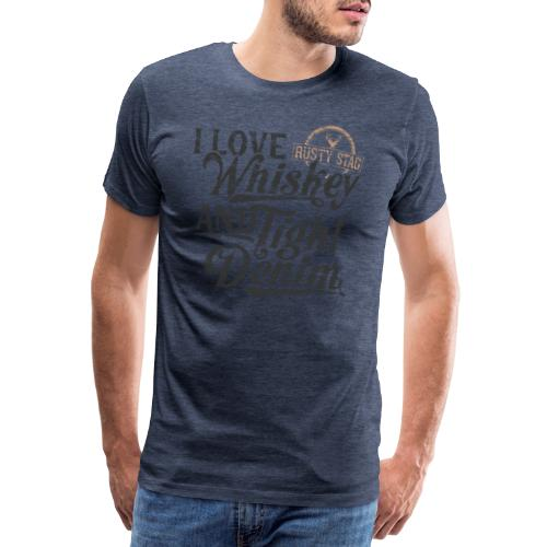 Whiskey and Tight Denim - Men's Premium T-Shirt