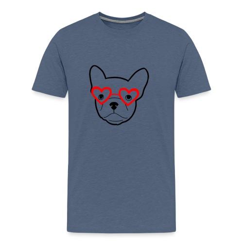 Frenchbulldogglasses - Männer Premium T-Shirt