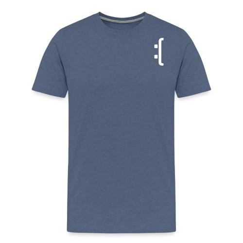A 'Sad Face' Design :( , Designed by Browney. - Men's Premium T-Shirt