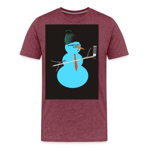 Hockey snowman - Miesten premium t-paita