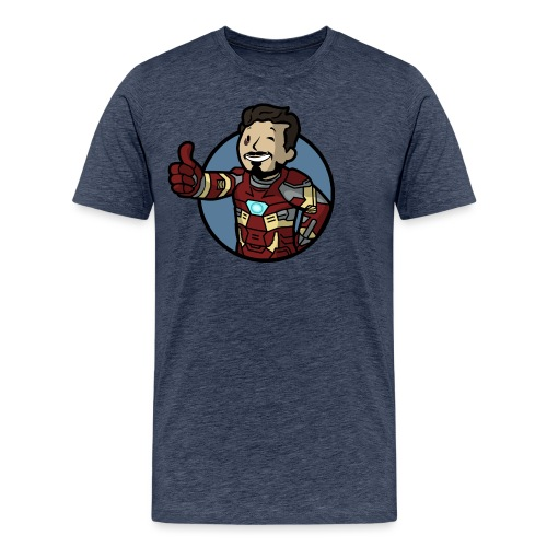 Vault-Boy/Iron Man Mashup T-shirt - Men's Premium T-Shirt