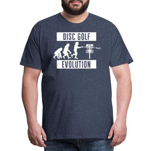 Disc golf - Evolution - White - Miesten premium t-paita