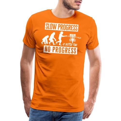 Disc golf - Slow progress - White - Miesten premium t-paita