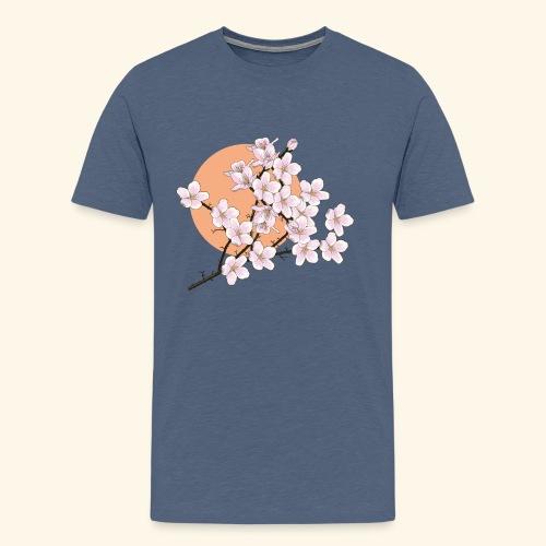 Kirschblüten, Sonne, Frühling - Männer Premium T-Shirt