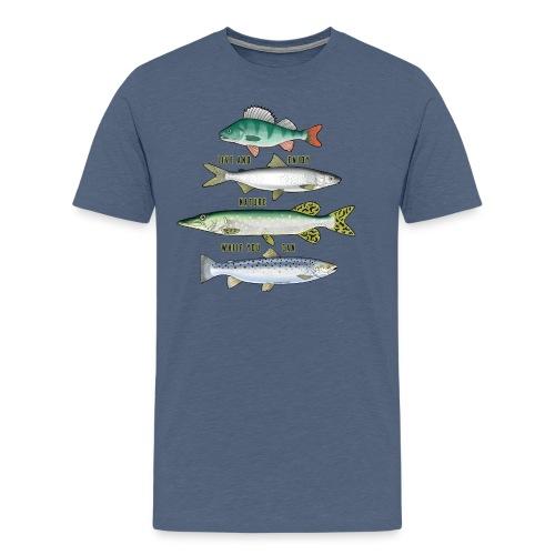 FOUR FISH - Tekstiili- ja lahjatuotteet (10-34B) - Miesten premium t-paita