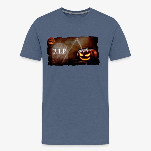 Halloween schauriger Friedhof - Männer Premium T-Shirt
