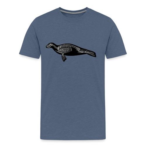 Robben skelet - Herre premium T-shirt