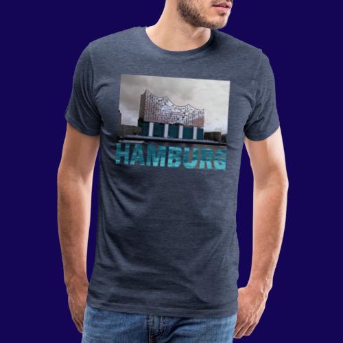 Elbphilharmonie | HAMBURG-Typo| Künstlermotiv - Männer Premium T-Shirt