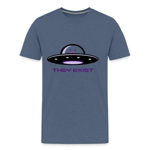 UFO Alien - they exist, Ner - Männer Premium T-Shirt