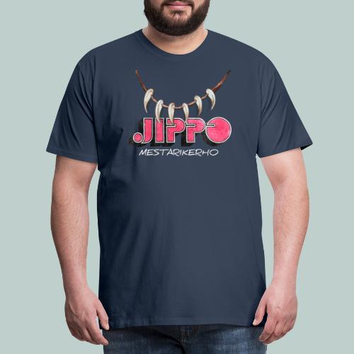 jippomestari_pink - Miesten premium t-paita