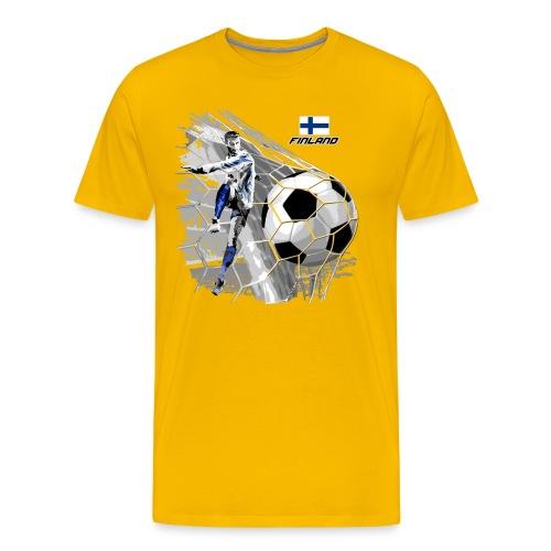 FP22F 05 FINLAND FOOTBALL - Miesten premium t-paita