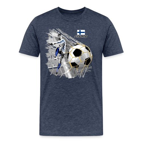 FINLAND FOOTBALL SOCCER PLAY T SHIRTS, GIFTS etc. - Miesten premium t-paita