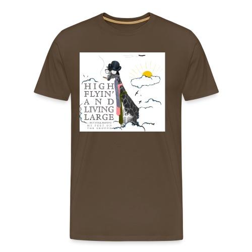 High flying Giraffe - Miesten premium t-paita