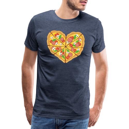 Pizza-Liebe - Männer Premium T-Shirt
