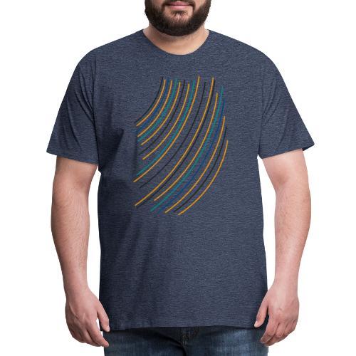 linee multicolore - Maglietta Premium da uomo